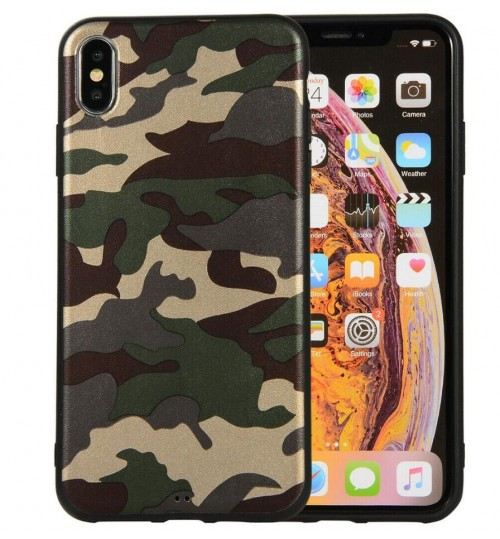 iPhone XR Case  Camouflage Soft Gel TPU Case