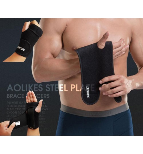 Left Wrist Brace Splint with Detachable Steel