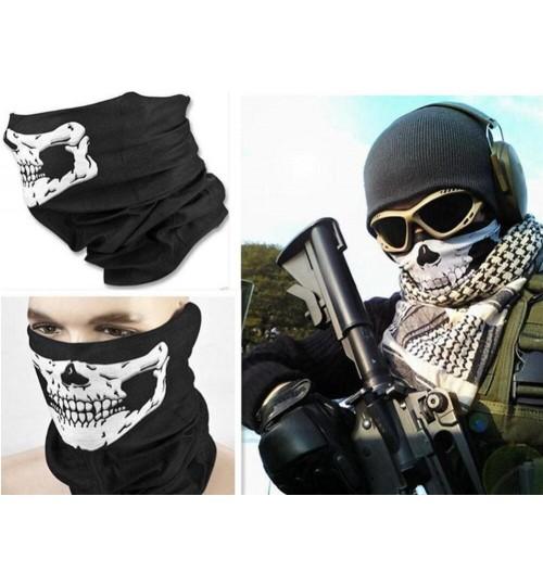 Skull Face Mask Bandana Neck Tube Scarf