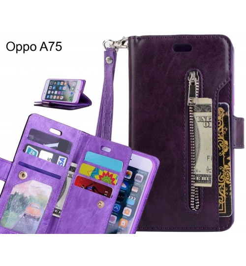 Oppo A75 case multi functional wallet case