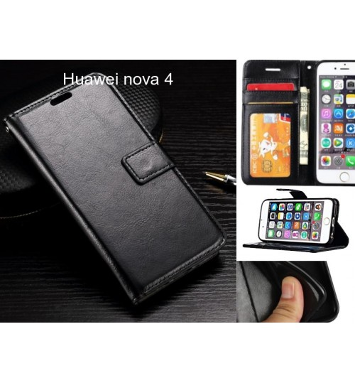 Huawei nova 4 case Fine leather wallet case