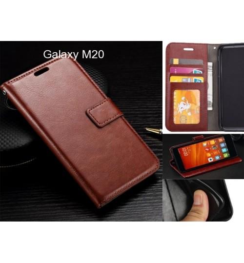 Galaxy M20 case Fine leather wallet case