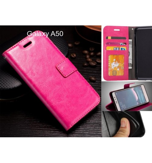 Galaxy A50 case Fine leather wallet case