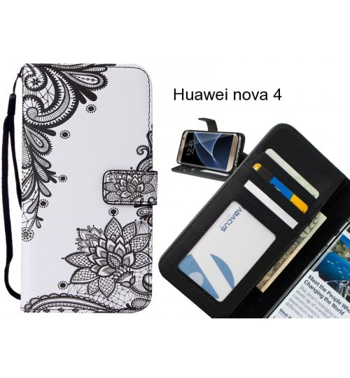 Huawei nova 4 case leather wallet case printed ID