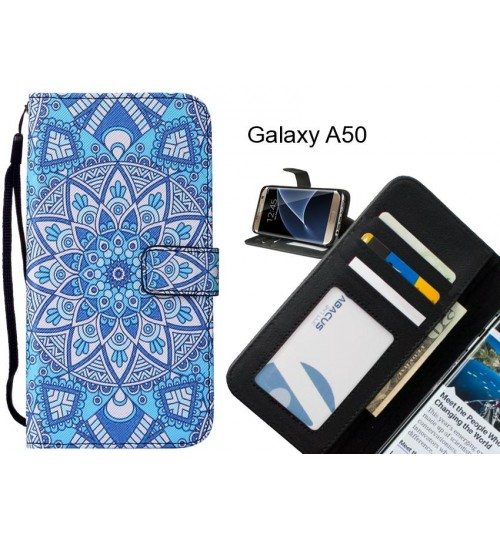 Galaxy A50 case leather wallet case printed ID