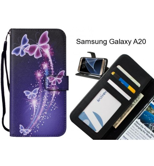 Samsung Galaxy A20 case leather wallet case printed ID