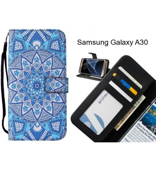 Samsung Galaxy A30 case leather wallet case printed ID