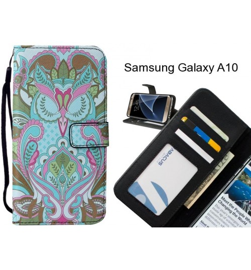 Samsung Galaxy A10 case leather wallet case printed ID