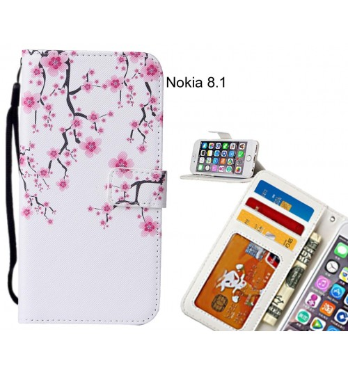 Nokia 8.1 case leather wallet case printed ID