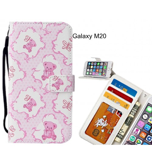 Galaxy M20 case leather wallet case printed ID