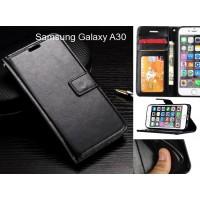Samsung Galaxy A30 case Fine leather wallet case