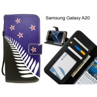 Samsung Galaxy A20 case 3 card leather wallet case printed ID