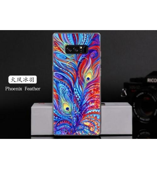 Galaxy Note 8  case Ultra Slim Soft Gel TPU printed case soft cover