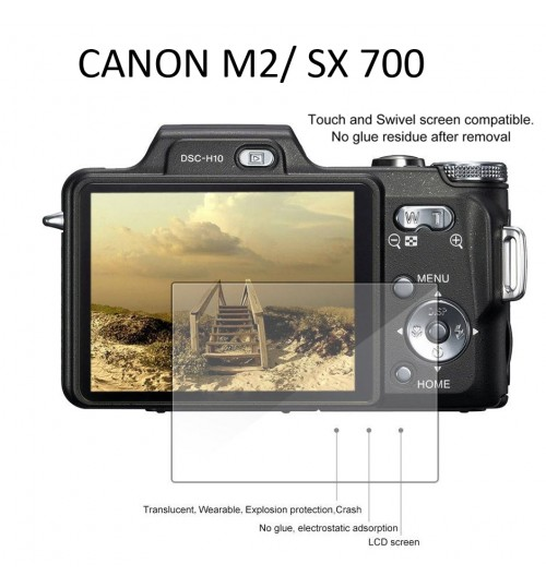 Canon LCD Screen Protector Tempered Glass For Canon M2 SX700