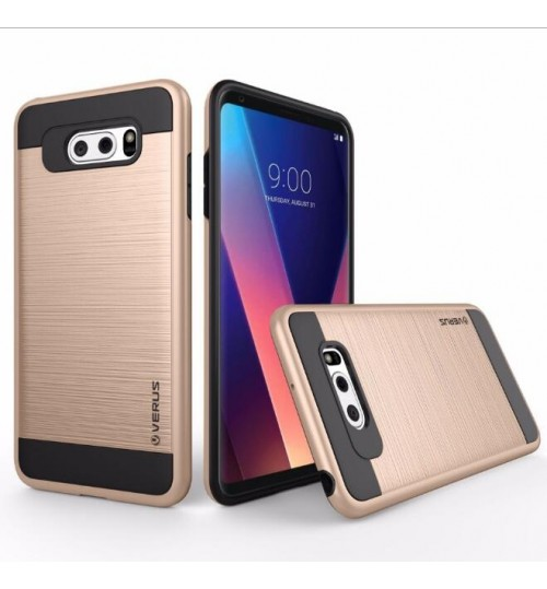 LG V30 case Impact Proof Brushed Metal Case