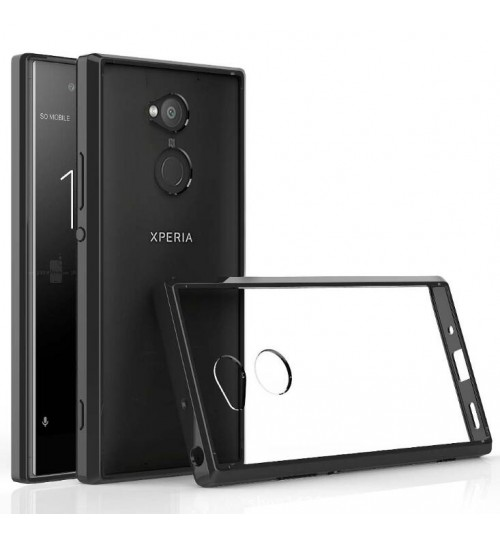 Sony Xperia XA2 case Anti-shock Hybrid protective bumper w clear rear panel