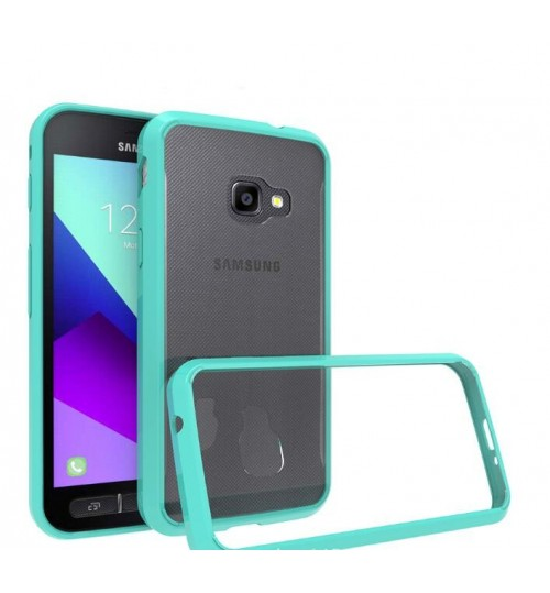 Galaxy Xcover 4 case bumper  clear gel back cover