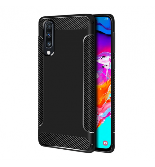 Samsung Galaxy A50 case rugged case with carbon fiber