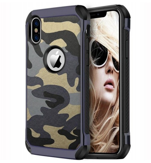 iPhone XS impact proof heavy duty camouflage case