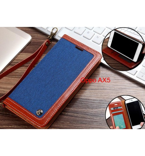 Oppo AX5 Case Wallet Denim Leather Case