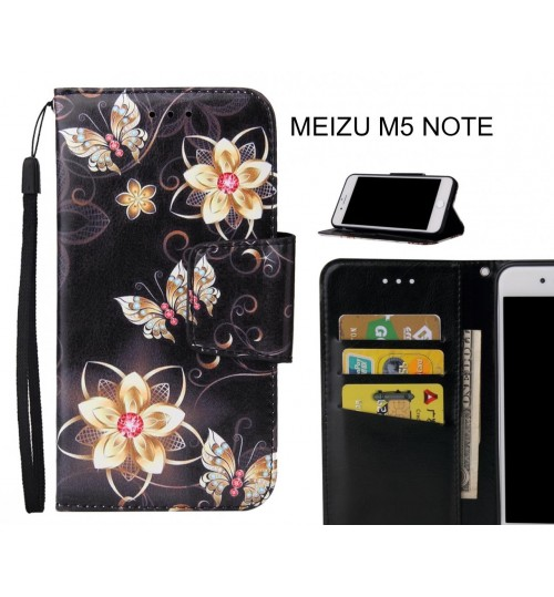MEIZU M5 NOTE Case wallet fine leather case printed