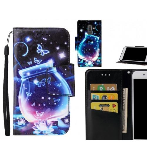 Galaxy J8 Case wallet fine leather case printed