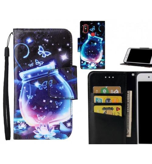 Xiaomi Mi 6X Case wallet fine leather case printed