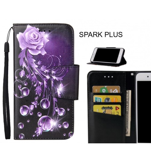 SPARK PLUS Case wallet fine leather case printed