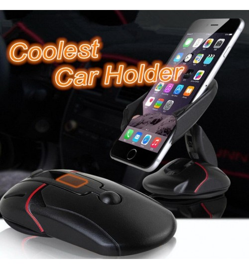 Car Phone Holder Mount Stand For Mobile Phone Mouse Suction 360° Adjustable