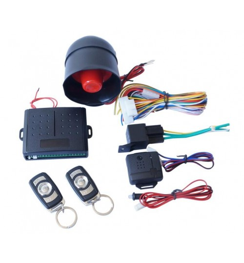 Car alarm with two remotes Security System Siren Keyless Entry