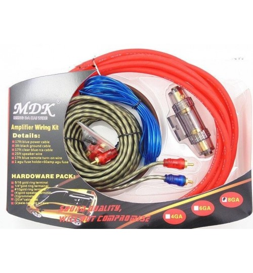 Car Audio Speaker Amplifier Wiring Cable kit 1500w Installation kit 8GA