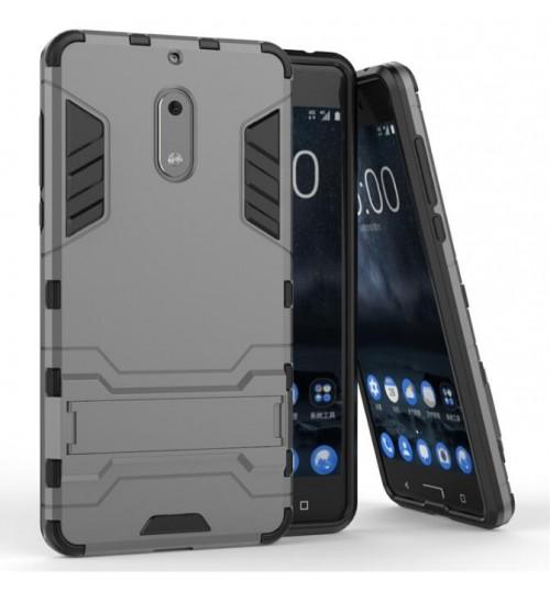 Nokia 6 case Dual Defender Hybrid Kickstand Case