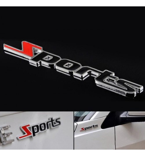 3D Sports Metal Car Sticker Emblem Badge Decal