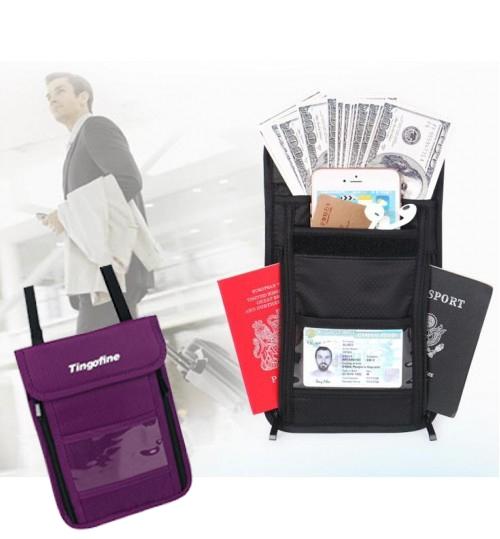 Passport Holder Travel Neck Pouch