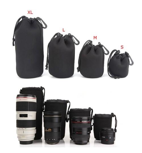 4Pcs Soft Neoprene Lens Pouch Bags