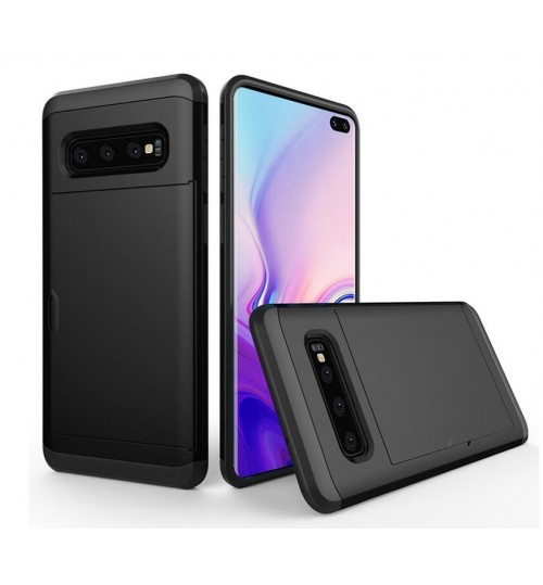 Galaxy S10 Plus Case impact proof hybrid case card holder