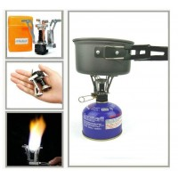 Portable Stove Gas Camping Stove Outdoor Hiking Stoves Jet Cooker Burner Case