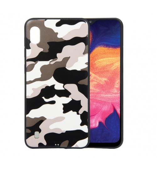 Samsung A10 Case Camouflage Soft Gel TPU Case