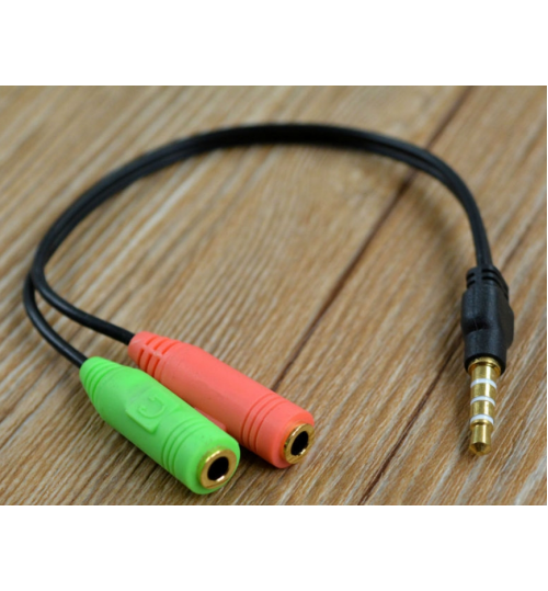 3.5mm Audio Microphone Earphones Adapter