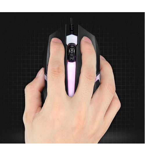 Gaming Mouse Breathing LED Optical Wired