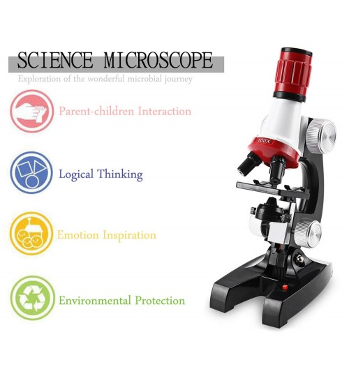 Biological Science Microscope 1200X for Kids