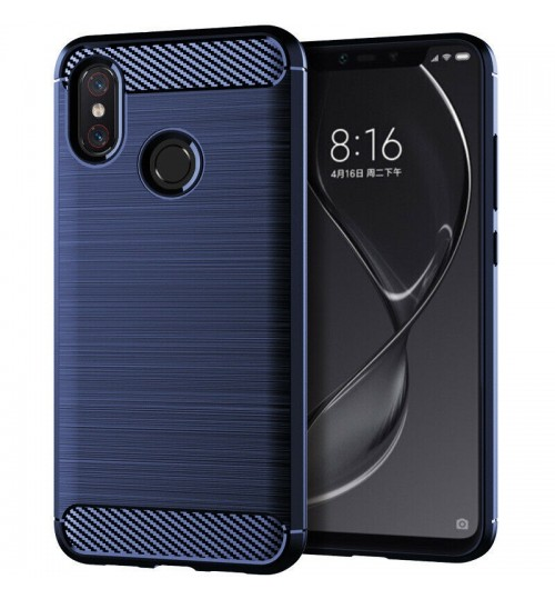 Huawei Y6 Pro 2019 Case Shockproof Carbon Fiber Case
