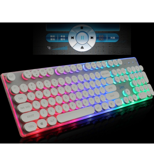 Gaming Keyboard RGB Mechanical Feel USB Wired