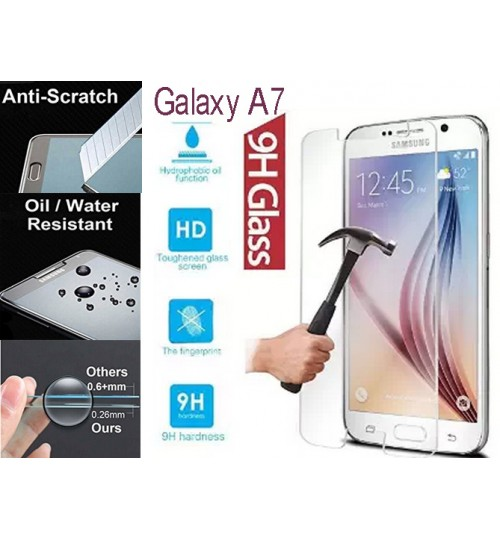 Galaxy A7 tempered Glass Screen Protector Film Samsung
