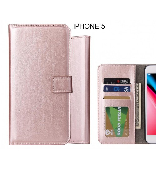 IPHONE 5 Case Fine Leather Wallet Case