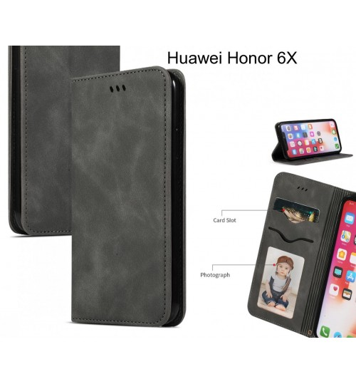 Huawei Honor 6X Case Premium Leather Magnetic Wallet Case