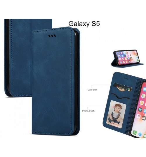 Galaxy S5 Case Premium Leather Magnetic Wallet Case