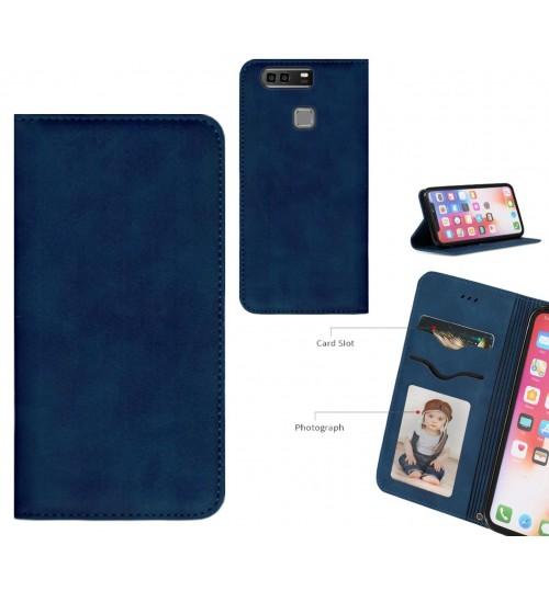 Huawei P9 Plus Case Premium Leather Magnetic Wallet Case