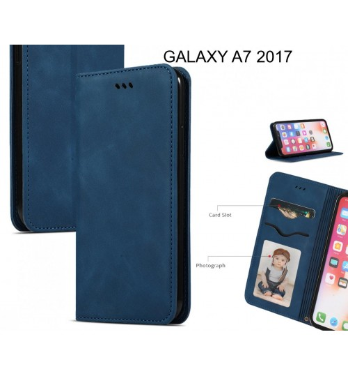 GALAXY A7 2017 Case Premium Leather Magnetic Wallet Case