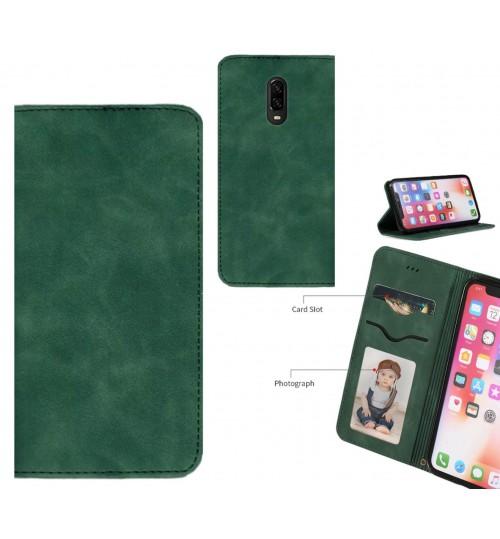 OnePlus 6T Case Premium Leather Magnetic Wallet Case